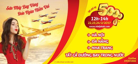Vietjet Air: Đón tháng 03 cùng triệu vé giá rẻ