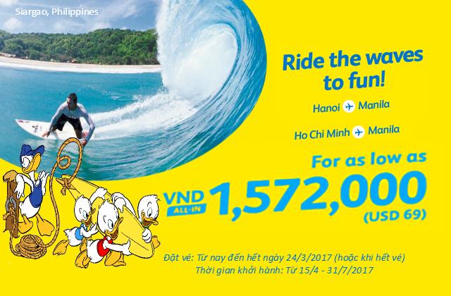 Cebu Pacific: Tăng cường bán vé 69 đô đến ngày 24/3