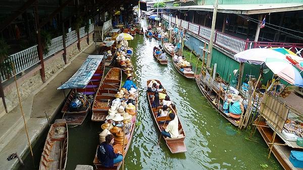 Quang cảnh chợ nổi, Thái Lan