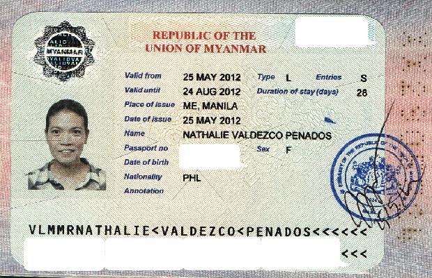 visa di myanmar cong tac