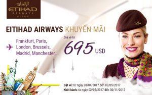 Etihad Airways tưng bừng khuyến mãi vé 695 USD!