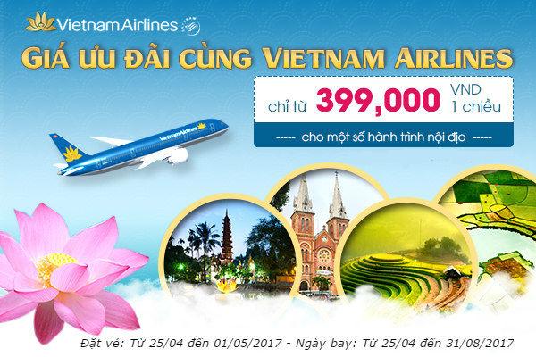 Nhanh tay săn vé 399,000 đồng cùng Vietnam Airlines!