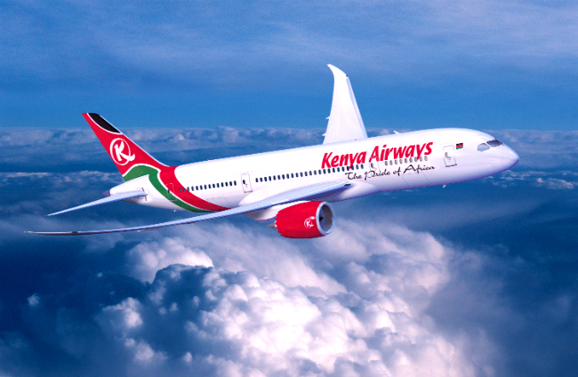 ve may bay kenya airways