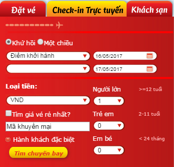 cach check-in online hang vietjet air