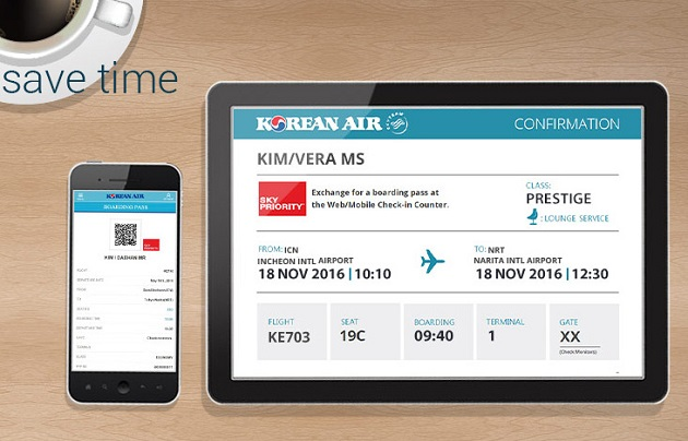 check-in truc tuyen korean air