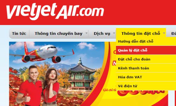 hướng dẫn kiểm tra code vé máy bay Vietjet Air