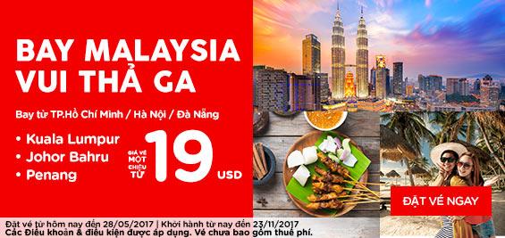 Cùng Air Asia vui thả ga đón hè chỉ với 19 USD