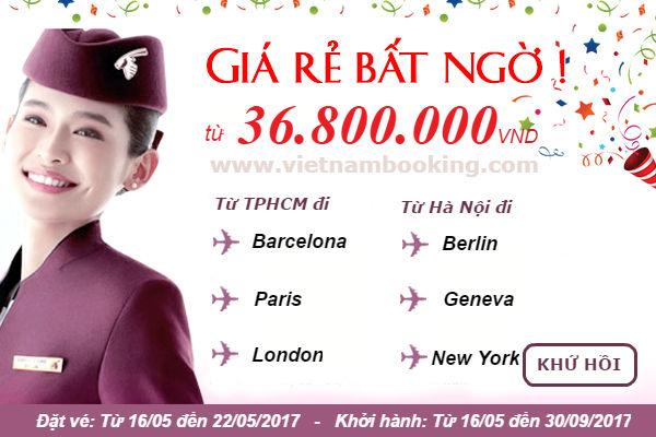 Qatar Airways giảm ngay 30% giá vé hạng Thương Gia!