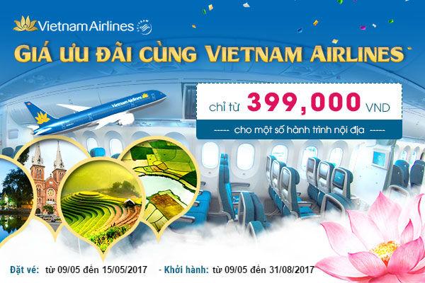 ve khuyen mai vietnam airlines gia hap dan