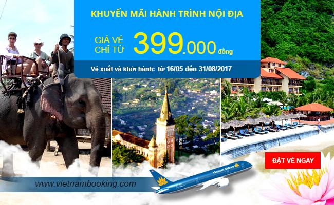 Cơ hội sở hữu vé máy bay 399.000đ từ Vietnam Airlines