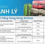Quy định hành lý ký gửi hãng Hong Kong Airlines