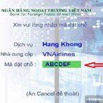 Thanh toán vé máy bay Vietnam Airlines qua ATM Vietcombank
