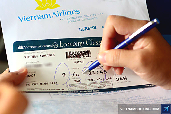 ve vietnam airline khuyen mai