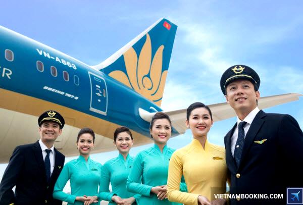 mua ve vietnam airline khuyen mai