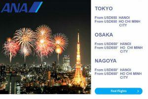 All Nippon Airways: vé 528 USD, vi vu Nhật Bản, Bắc Mỹ