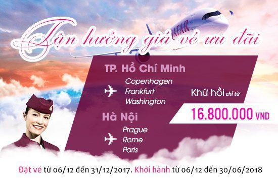 vé máy bay qatar airways khuyến mãi