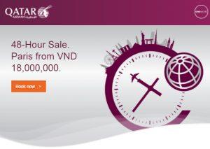 Mua vé Qatar bay Paris siêu tiết kiệm chỉ trong 48 giờ