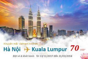 Vietnam Airlines tung VÉ RẺ đi Kuala Lumpur chỉ từ 70 USD