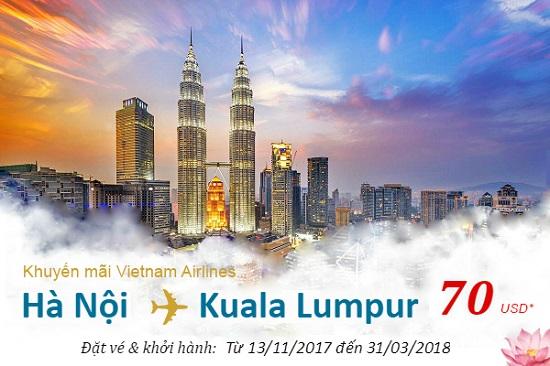 vé máy bay khuyến mãi đi kuala lumpur chỉ từ 70 USD