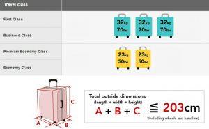 Đặt vé Japan Airlines được mang bao nhiêu kg hành lý?