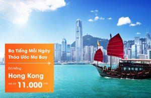 Jetstar siêu khuyến mãi vé 11.000đ đi Hong Kong