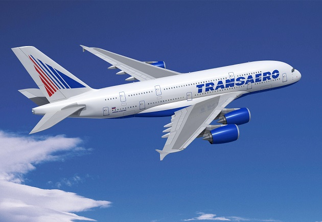 ve may bay transaero airlines