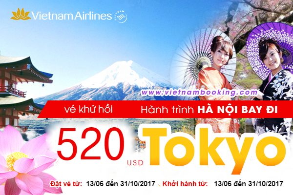 khuyen mai vietnam airline ha noi tokyo