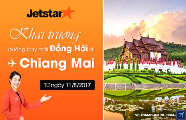 Jetstar khai thac duong bay moi dong hoi chiang mai