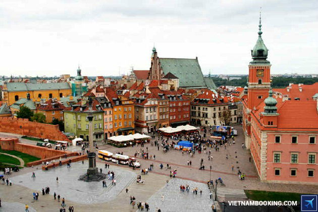ve may bay gia re di warsaw