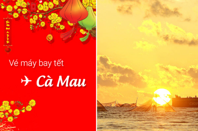 ve may bay tet di ca mau