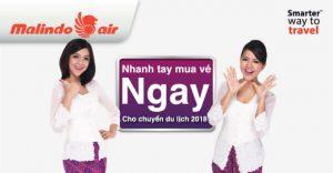 Vi vu cùng vé khứ hồi Malindo Air giá từ 79 USD