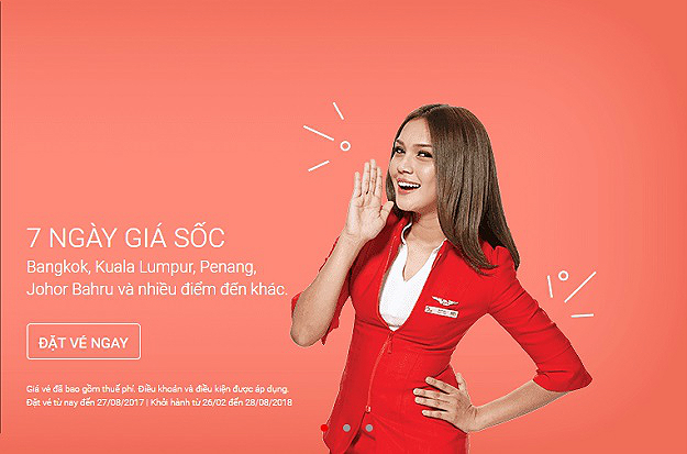ve may bay airasia gia re