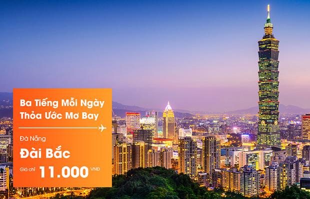 Jetstar bán vé đi Đài Bắc chỉ từ 11.000 đồng!