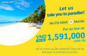 Cebu Pacific khuyến mãi vé máy bay đi Manila chỉ 70 USD