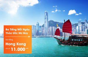 Jetstar khuyến mãi vé 11.000đ đi Bangkok và Hong Kong