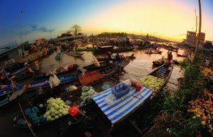 Ấn tượng chợ nổi Cái Răng điểm du lịch độc đáo của Cần Thơ