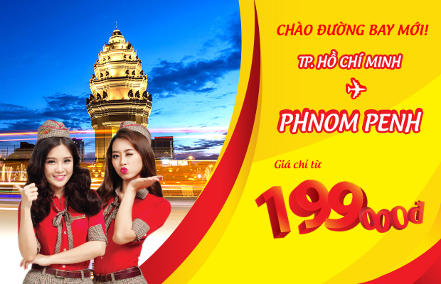 Vietjet khuyến mãi vé TPHCM – Phnom Penh chỉ từ 199,000 VND!