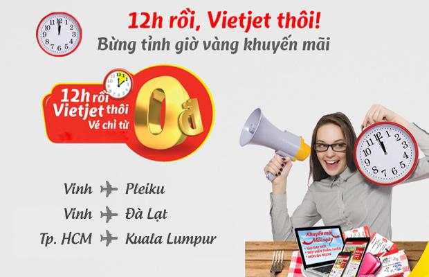 Bay Đà Lạt, Kuala Lumpur thả ga cùng vé Vietjet 0 VND!