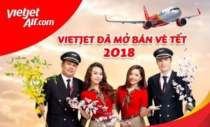 Giá vé máy bay tết 2018 Vietjet Air cập nhật mới nhất