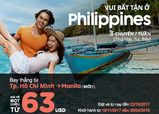 vé máy bay khuyến mãi air asia đi philippines