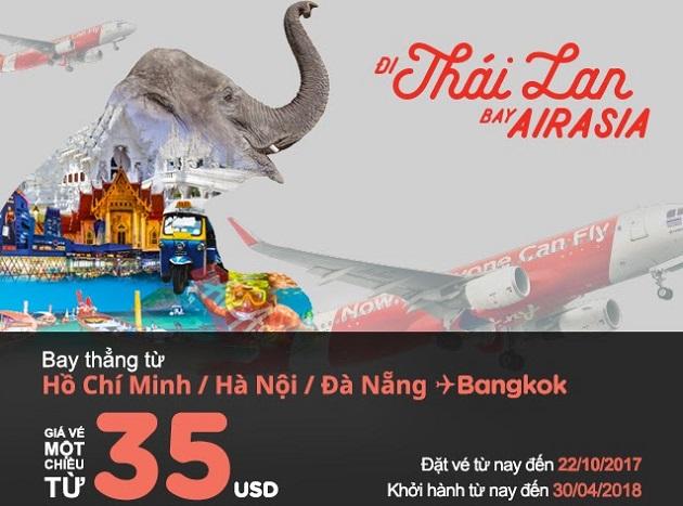 Mua vé Air Asia 35USD, trải nghiệm vui bất tận!