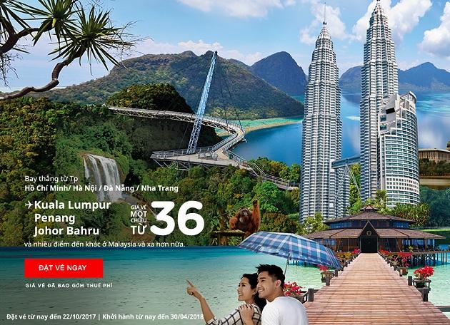 vé máy bay khuyến mãi air asia đi malaysia