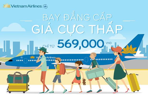 Bay đẳng cấp cùng Vietnam Airlines chỉ từ 569.000đ!