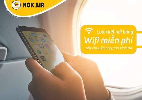 nok air cung cấp wifi miễn phí trên mọi chuyến bay