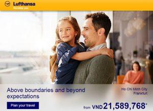 Lufthansa tung vé KHỨ HỒI 21tr bay châu Âu!