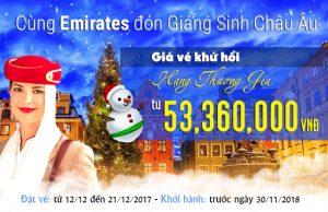 Mừng Giáng Sinh, Emirates ưu đãi giá vé KHỨ HỒI đi châu Âu