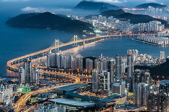 Cầu treo Gwangan Busan - tour du lịch Busan Hàn Quốc