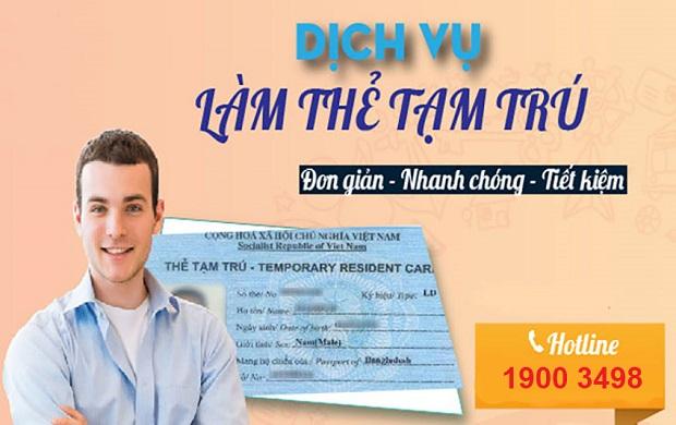 Dịch vụ làm thẻ tạm trú cho người nước ngoài | Uy tín – nhanh chóng – rẻ