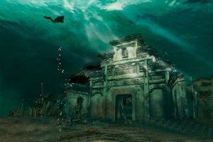 """Kỳ bí """" Atlantis của Phương Đông"""" – thành phố cổ dưới đáy hồ ở Trung Quốc"""