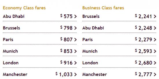 vé máy bay Etihad khuyến mãi giá rẻ